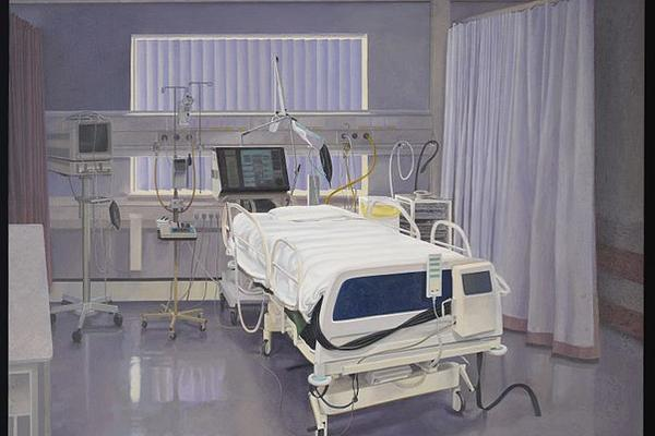 Oil painting of an intensive care unit in a hospital