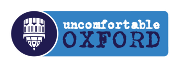 Uncomfortable Oxford blue and white logo