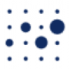 Blue dots, the Volkswagen Foundation logo